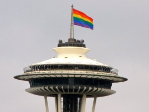 Space Needle won't fly gay colours at pride parade