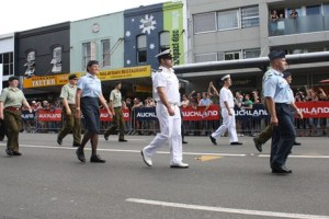 NZ Defence Force take part in Pride parade