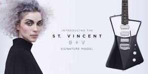 Music star St. Vincent designs guitar for women