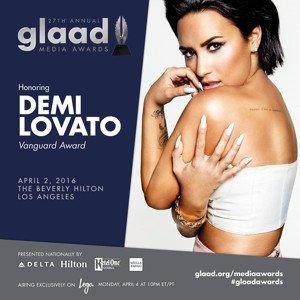 Demi Lovato to be honoured at the GLAAD Media Awards in LA