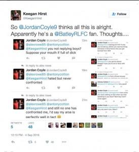 Keegan Hirst abuse