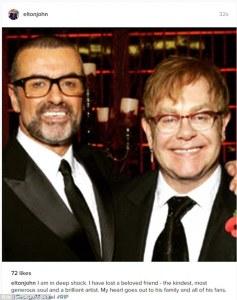Elton John pays tribute to George Michael