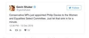 Philip Davies Equalities Committee