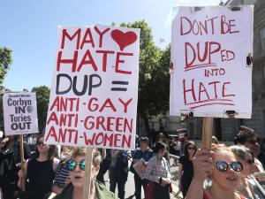 London and Belfast protests organised against Tory deal with DUP