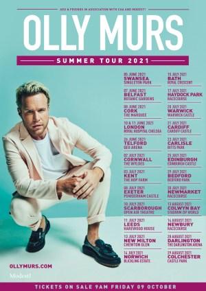 Olly Murs - 2021 outdoor UK tour