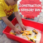 DIY Construction Sensory Bin