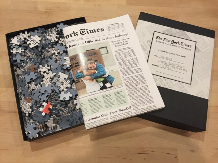 Get a Unique Gift for Your Valentine from The New York Times Store