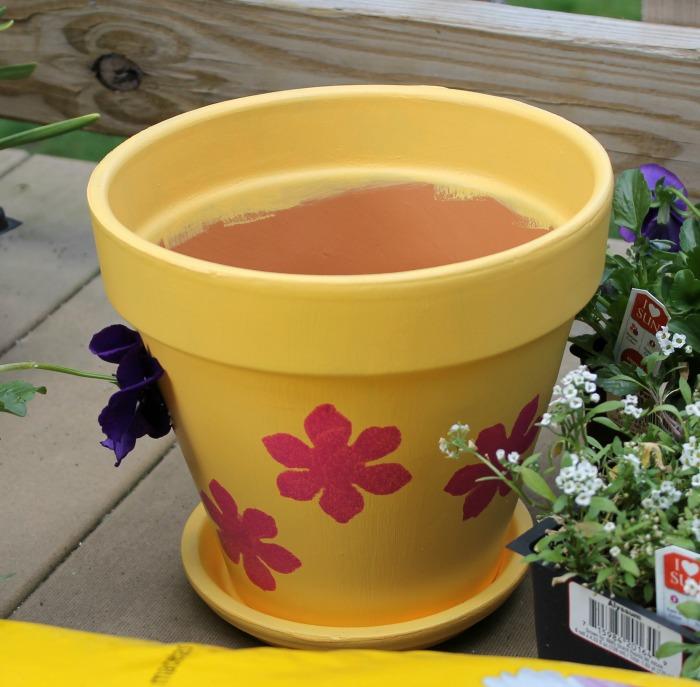 DIY Painted Flower Pot