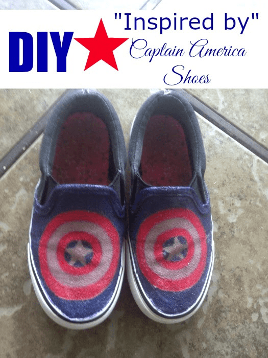 DIY Inspired by Captain America Shoes