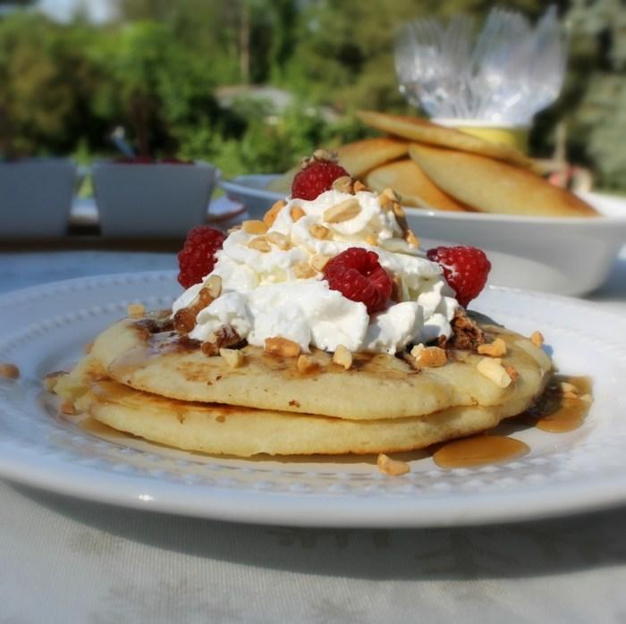 Chocolate & Cinnamon Peanut Butter Pancakes Recipe plus Pancake Bar Ideas