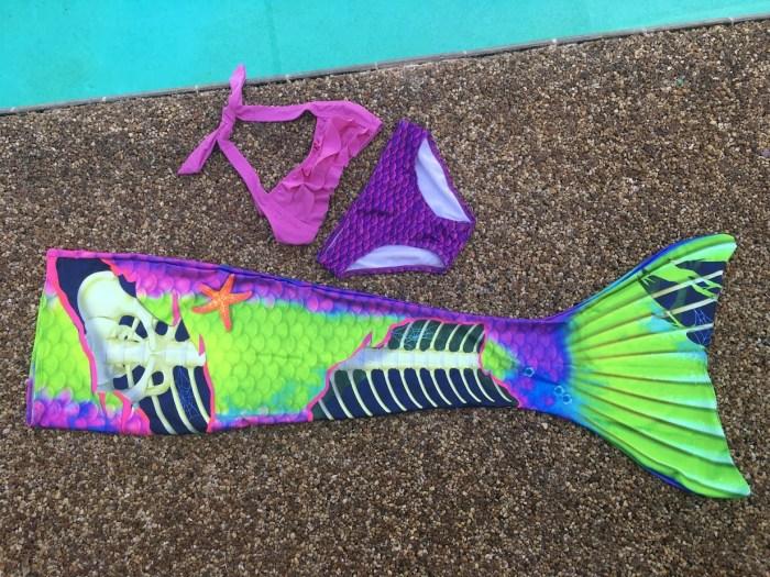 Fin Fun Neon Skeletail Zombie Mermaid Costume
