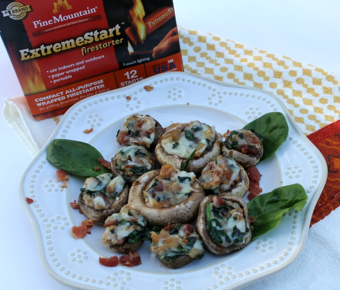 Bacon Spinach and Mozzarella Stuffed Mushrooms Recipe