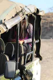 Hermana in the safari truck :D