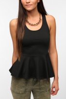 Sparkle & Fade Open-Back Peplum Tank Top, Urban Outfitters, $39.99
