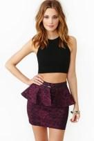 Electric Dream Peplum Skirt, Nasty Gal, $48.00