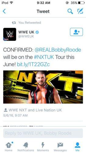 Bobby Roode UK Tour