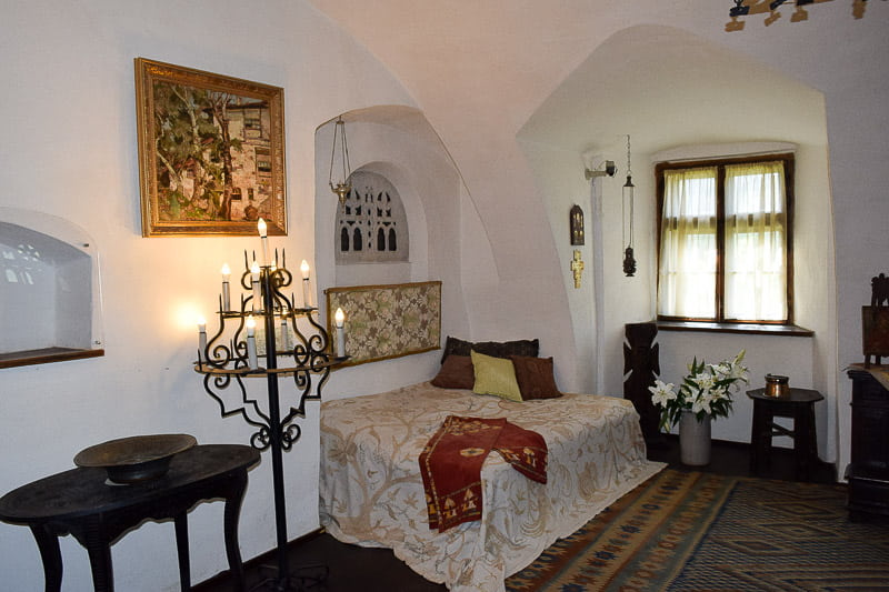 Bran Castle inside Dracula castle