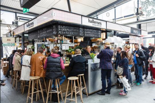 mercato coperto Copenaghen