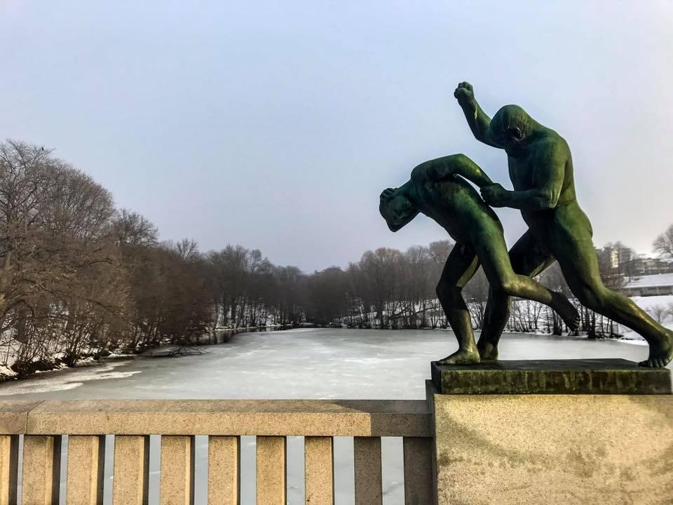 itinerario a piedi oslo statue vigeland park