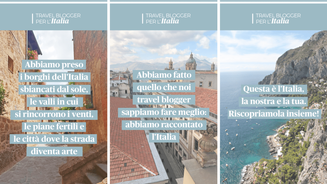 Travel Blogger per l'Italia