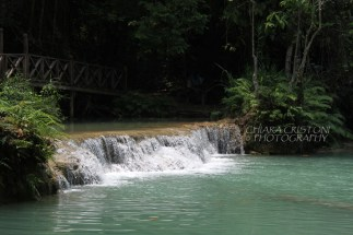 One of the falls and pool