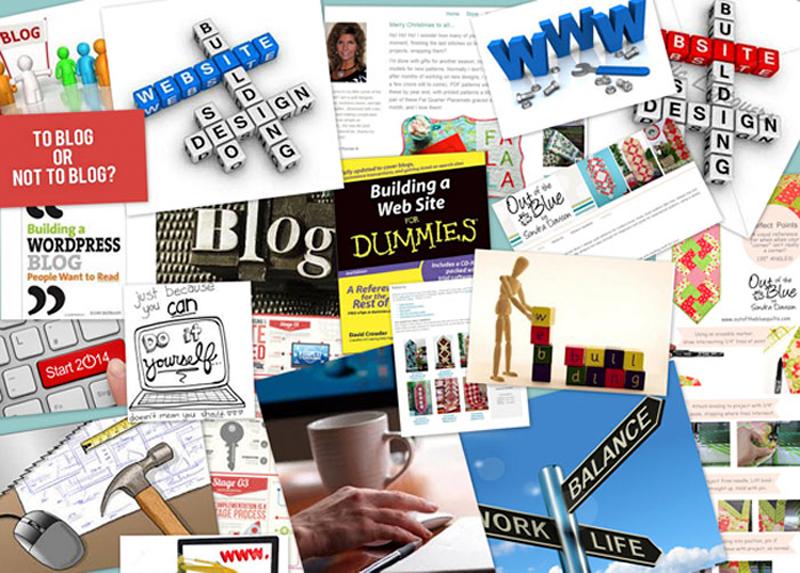 web-site-collage