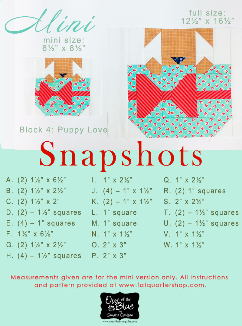 Snapshots Quilt-Along Mini/Full Quilt Block 4 │Out of the Blue Quilts
