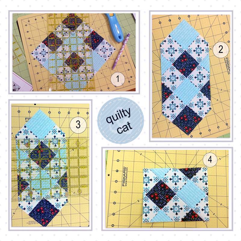 Snapshots Quilt-Along Mini Quilt Block 9 Pattern│Out of the Blue Quilts