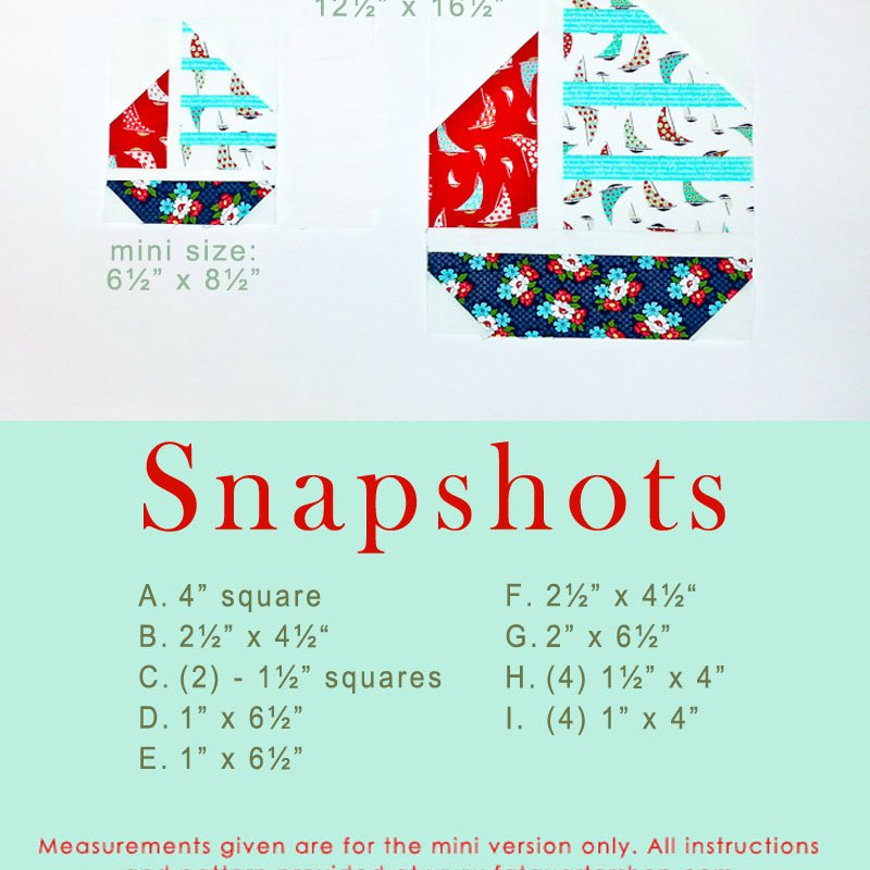 Snapshots Quilt-Along Mini Quilt Block 11 │Out of the Blue Quilts