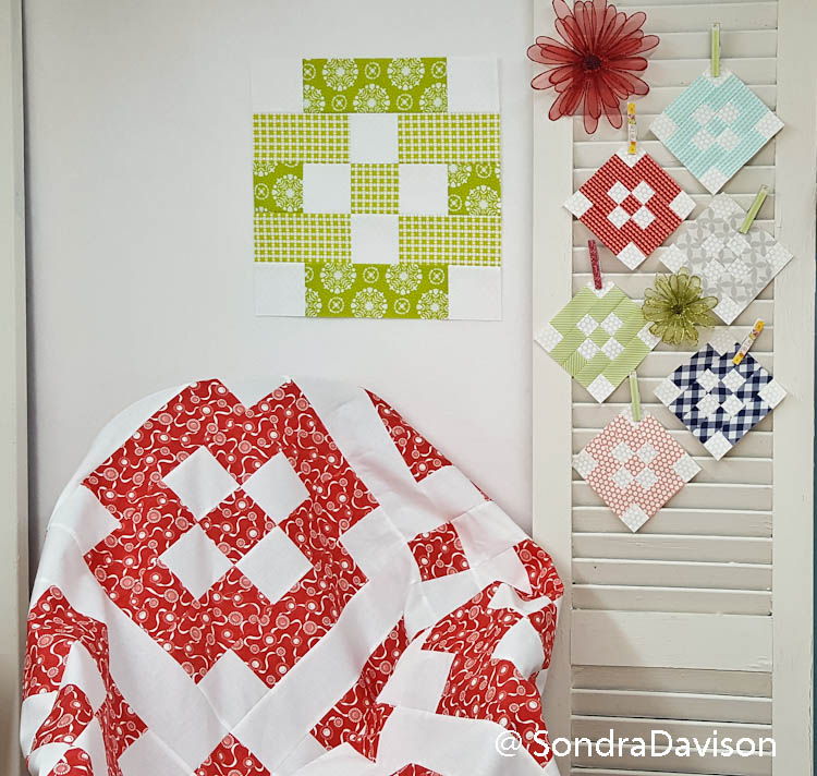 Patchwork Quilt Along Block 2 Diamond Pane by Out of the Blue Quilts
