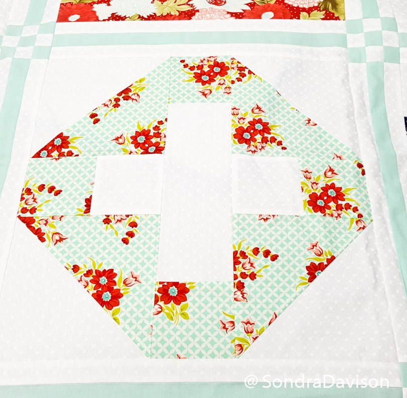 PWQAL Big and Small Block 5 │ Out of the Blue Quilts by Sondra Davison