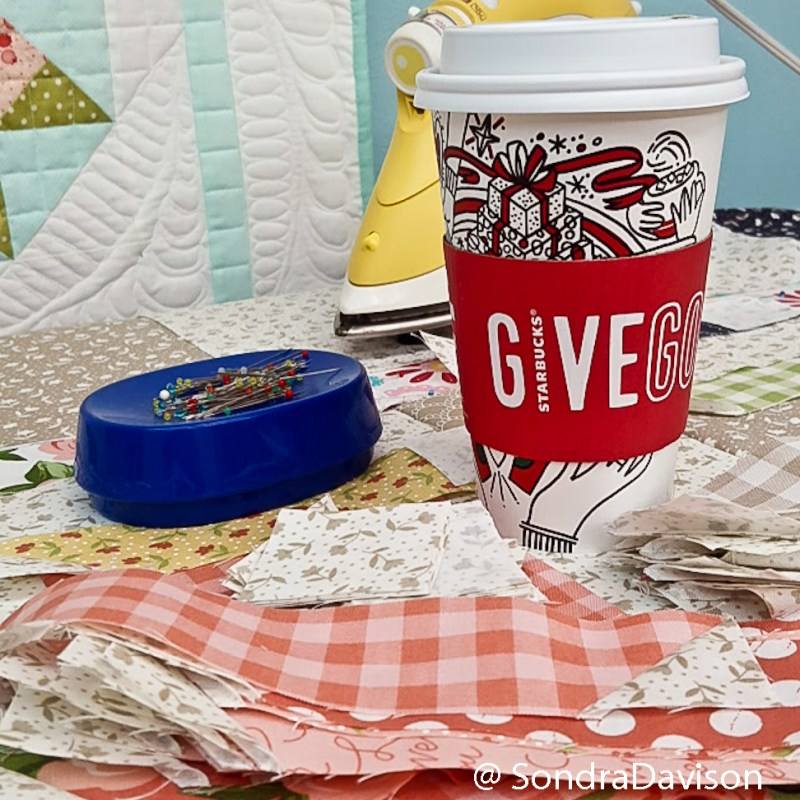 Starbucks and free quilting supplies
