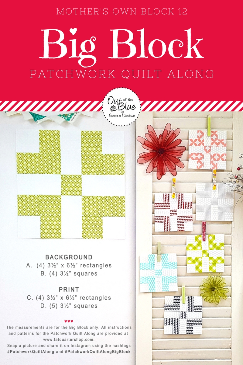 PWQAL Big Block 12 │ Out of the Blue Quilts by Sondra Davison