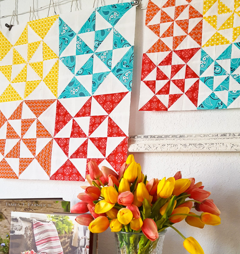 2018 Clementine QAL Block 3 │ Out of the Blue Quilts