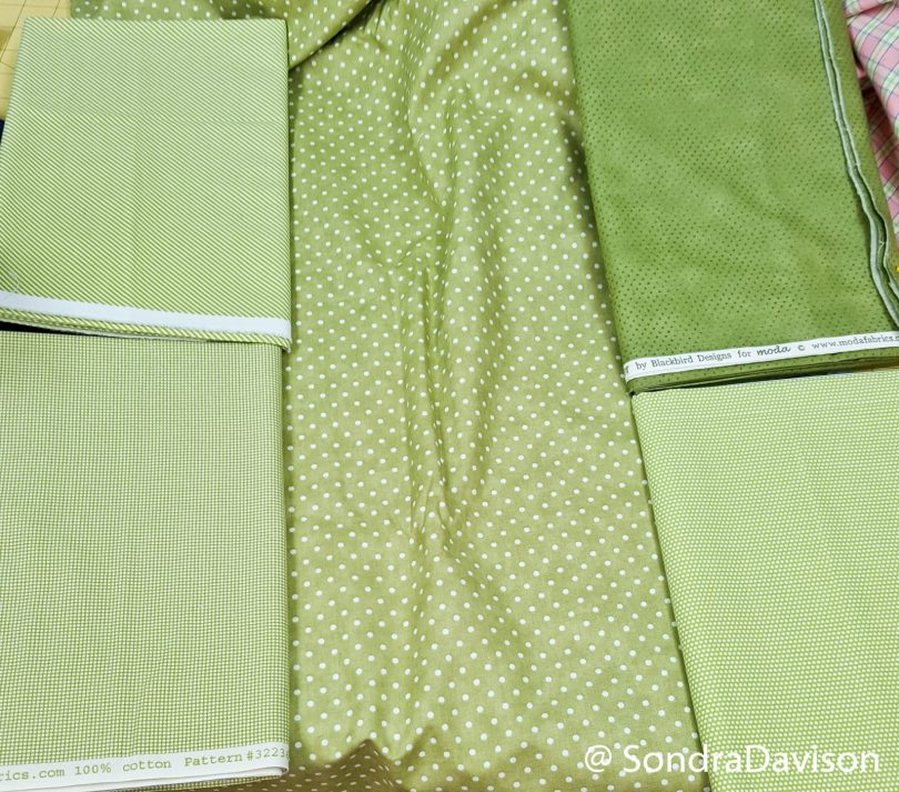 Binding fabric selection for the Enjoy Today quilt