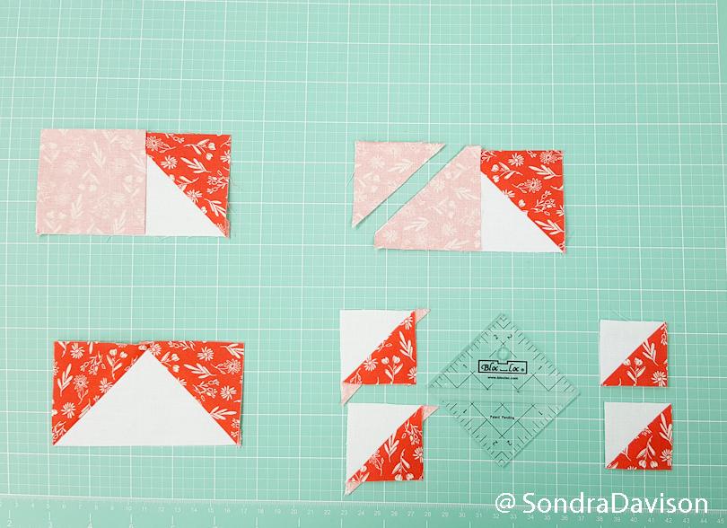 making bonus quilt blocks using the bloc loc ruler