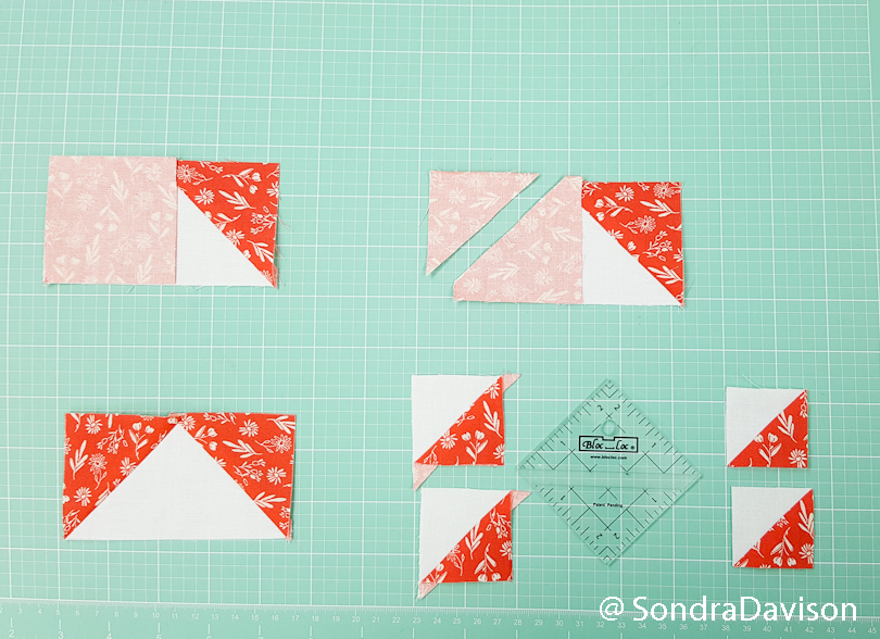 making bonus quilt blocks using the bloc loc ruler