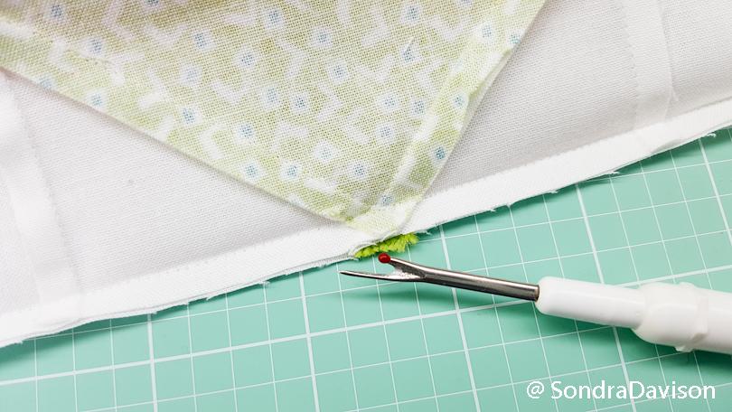 ripping open a quilt seam