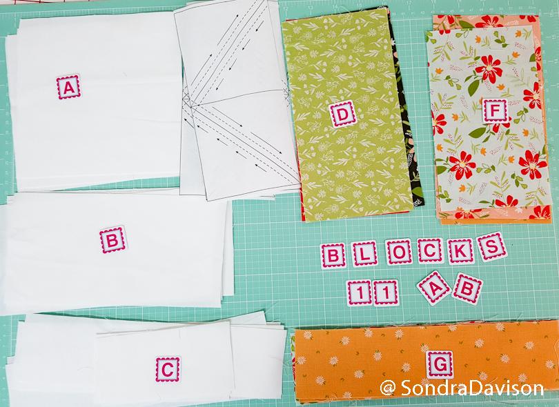 using alphabitties to organize quilt blocks