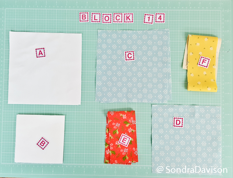 organizing fabric pieces for easy quilt block assembly