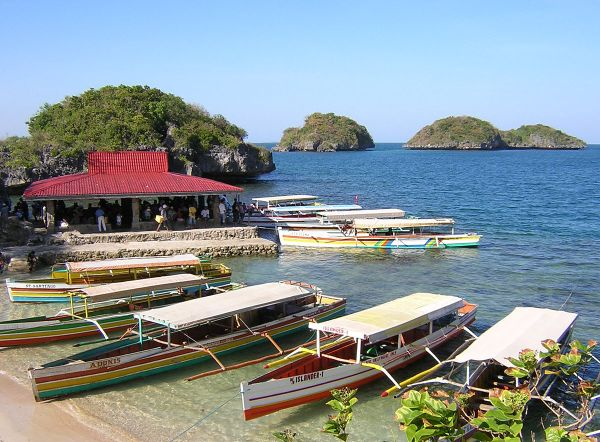 Quezon Island is one of the few developed tourist locations on Hundred Islands
