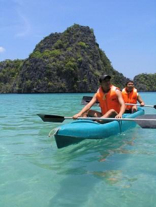 Kayaking near Kayangan Lake
