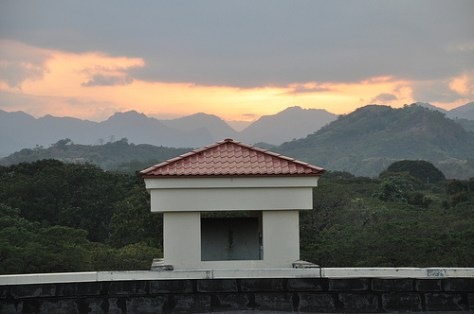 Sunset in Holiday Inn Clark