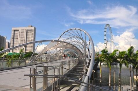 Foot Bridge at Marina Bay Sands