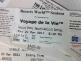 Voyage dela Vie Tickets