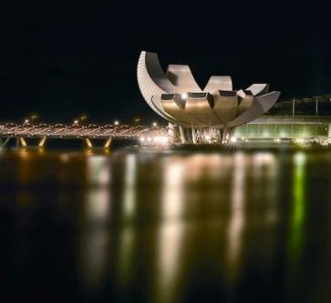 ArtScience Museum at Night
