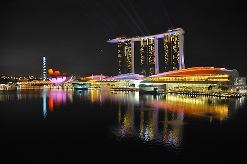 Marina Bay Sands after Earth Hour 2011