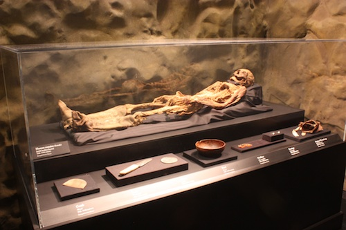 Mummy with artifacts from Mongolia