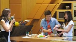 Chef Sharwin Tee preparing Sliders for everyone