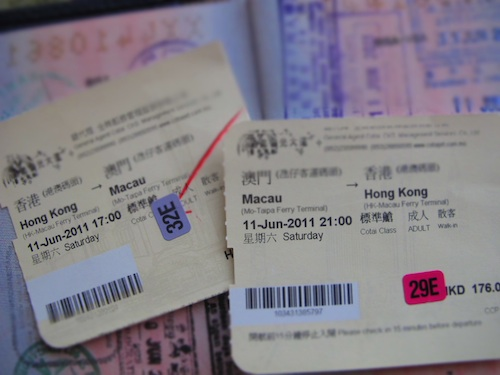 ferry tickets to macau from hong kong